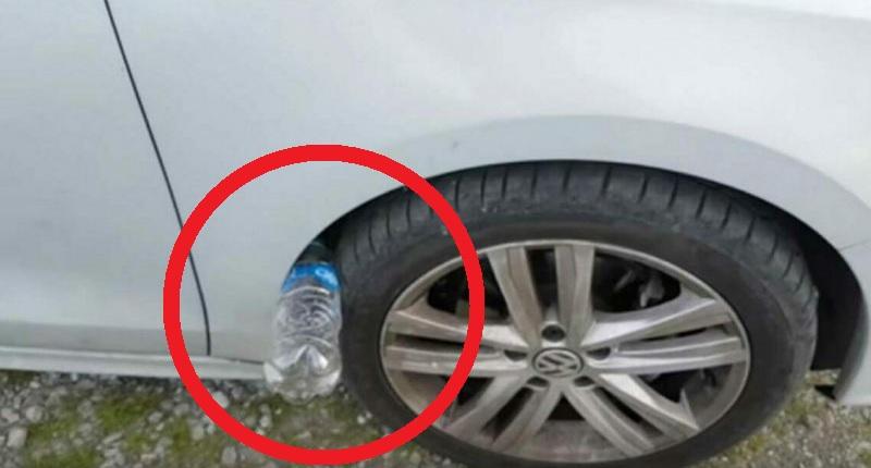 Якщо на колесі вашої машини лежить пластикова пляшка – ви в небезпеці…