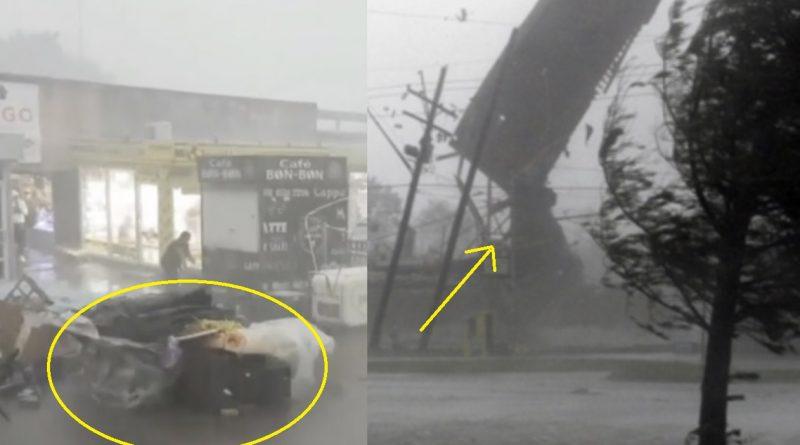 Вчора Закарпаття – сьогодні Київ: в столиці ураган зносить ресторани зриває дахи та паркани і навіть піднімає дітей в повітря