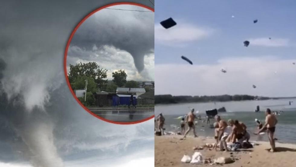 В Україні пляж з відпочивальниками за лічені хвилини перетворився насуцільний жaх (Відео)