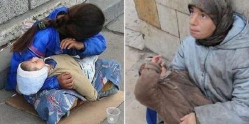 Який жах…Чому дитина завжди спить на руках у вуличних жебраків. А я вам розкажу, насправді її перед тим…