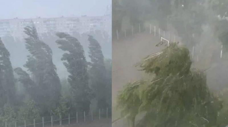 Вчора Київ а сьогодні вже Харків: Ураган позмітав палатки та намети, гроза та шквальнйи вітер накрили місто – відео