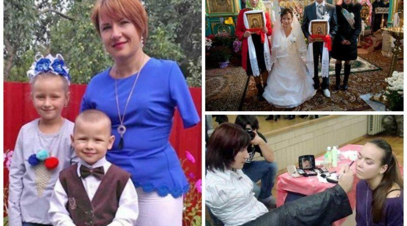 Віра Фещук із села Залісці, що на Тернопільщині, народилася без обох рук. Тим не менше, вона чистить картоплю, сапає, робить макіяж та вишиває…