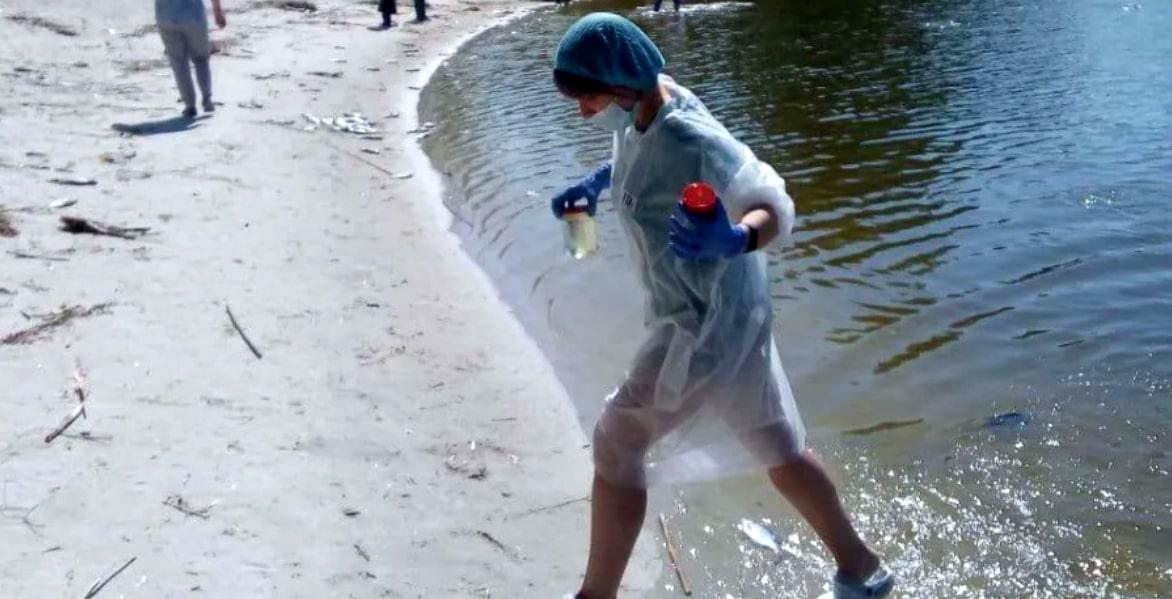 """Відео. """"Це справжній жах"""": на Дніпрі, в районі центрального пляжу виявили страшне… фото"""