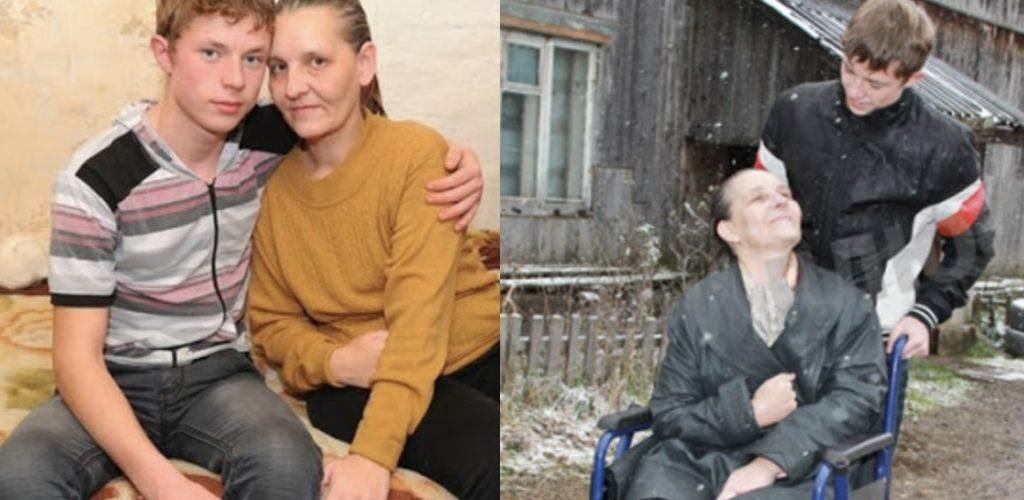 Його маму підкосив інсульт, 8 річний школяр залишився з бідою сам на сам і взявся доглядати за матір'ю