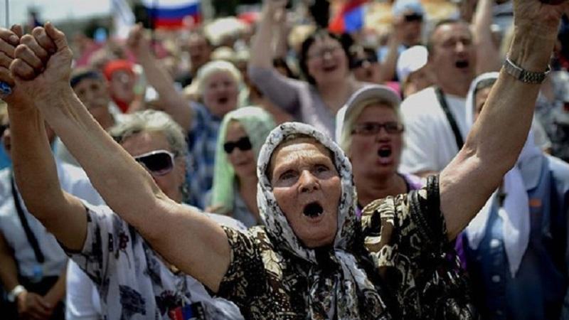 """""""Не будемо годувати Київ! Покараємо Україну! Не дамо укр0пам газу, вугілля, нафти, алмазів, землі …"""" А тепер Україна дай пенсії…"""