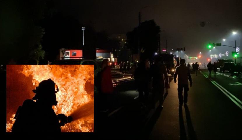 Терміново! Під Києвом палає багатоповерхівка! Людей евакуйовують (ВІДЕО)