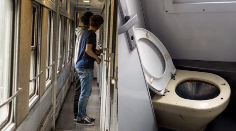 """Сходила в туалет і коли спускала воду ледь серце не стало: українка зняла на відео """"новий"""" туалет в вагонах Укразалізниці"""